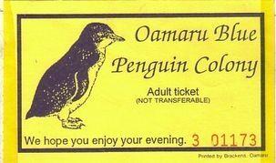 ペンギンのチケット