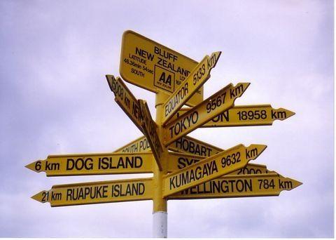 NZ最南端の標識