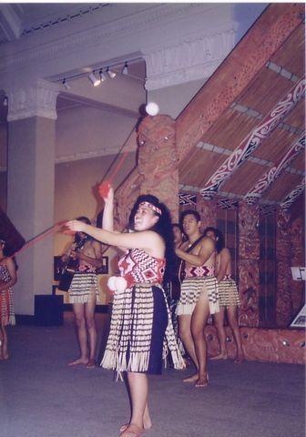 マオリの踊り